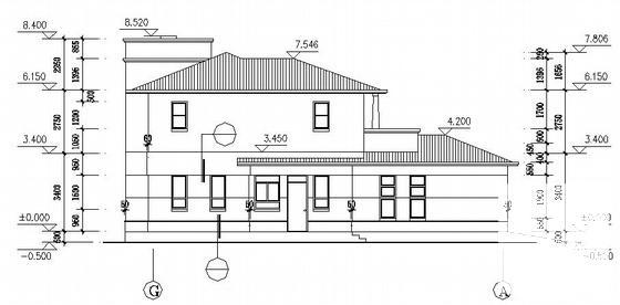 小型别墅建筑图纸 - 2