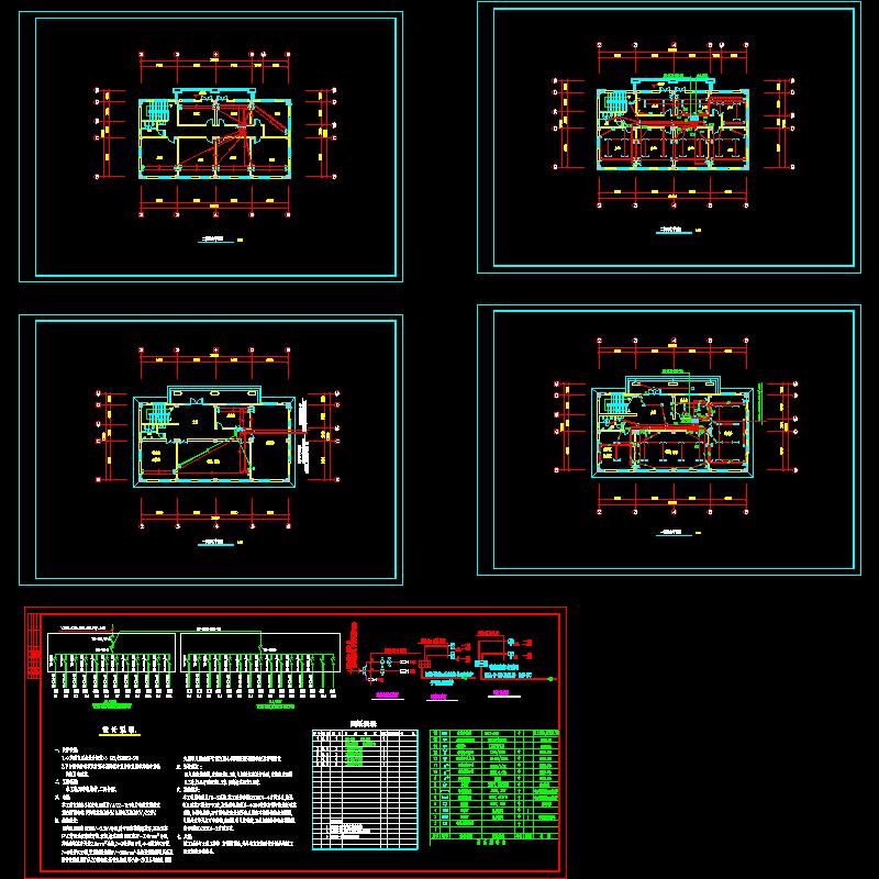 两层会所电气设计CAD施工图纸.dwg