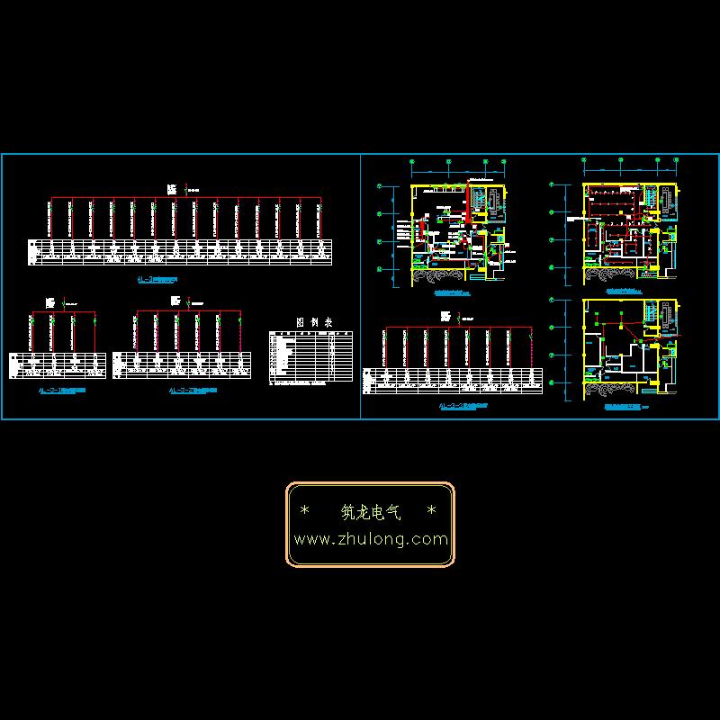 酒店厨房电气设计CAD施工图纸.dwg