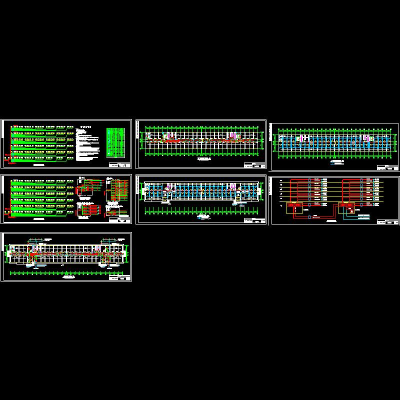 6层大学宿舍电气设计CAD施工图纸(用电负荷等级).dwg