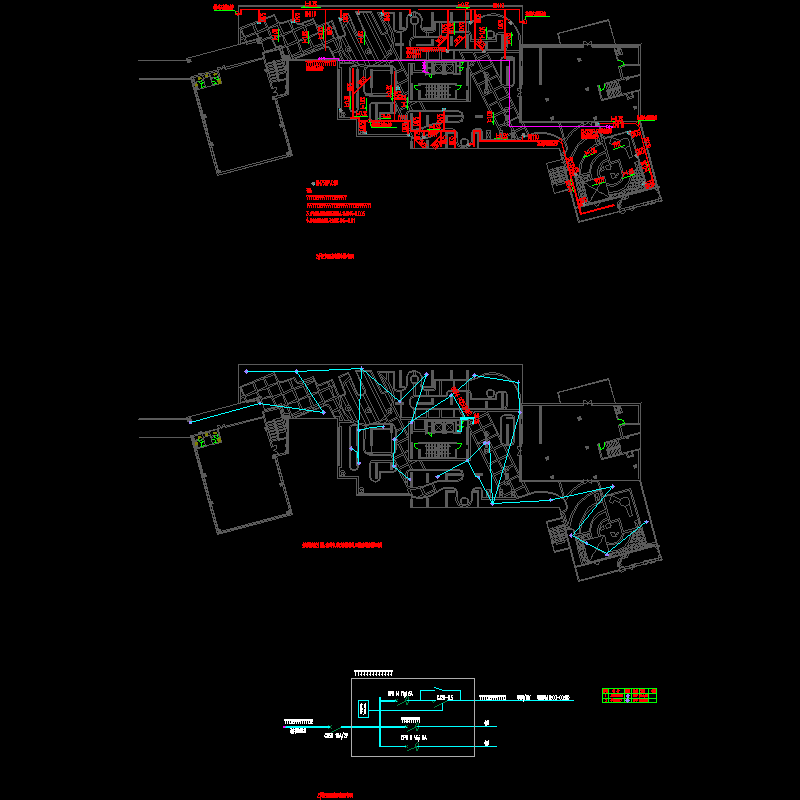 [CAD]二栋2层屋顶花园给排水及配电设计图纸.dwg
