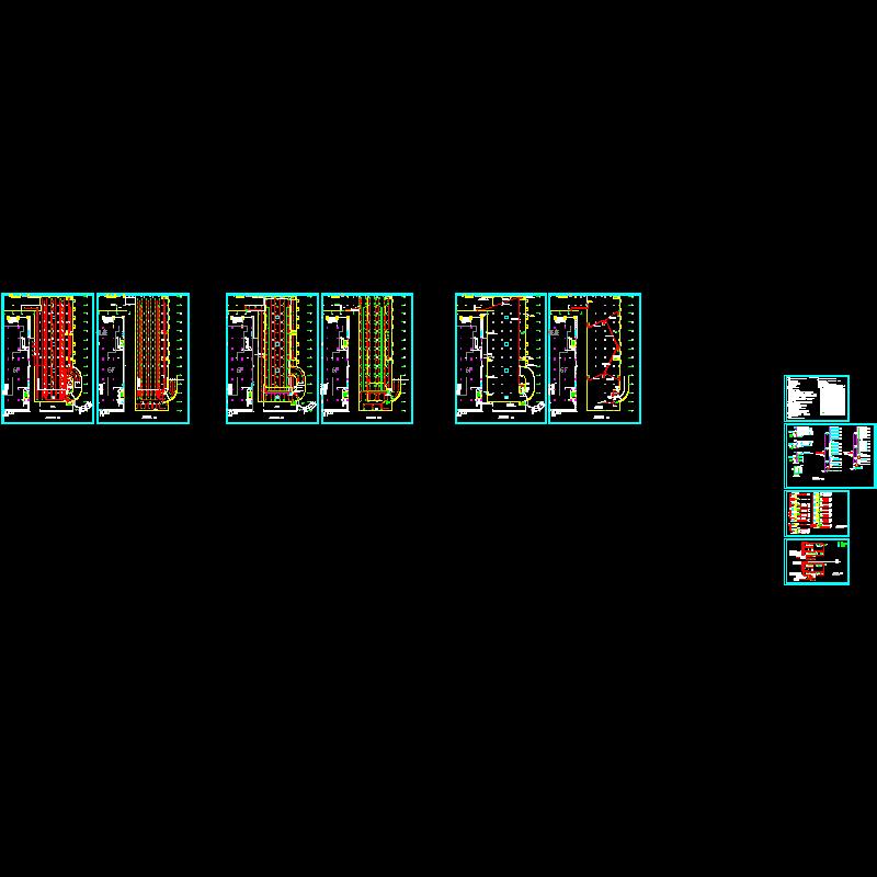 两层地下车库电气设计CAD施工图纸.dwg