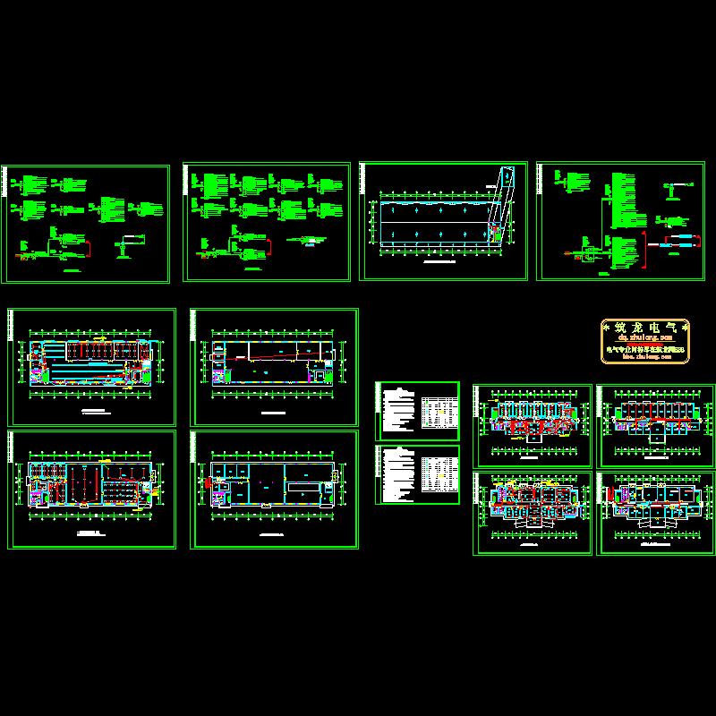 两层工厂电气设计CAD施工图纸.dwg