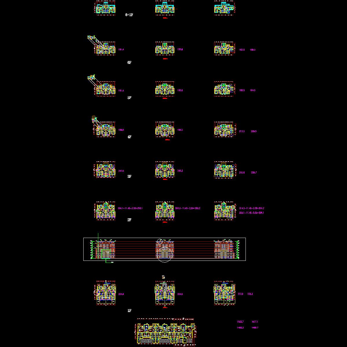 [CAD]知名企业宝山洋房户型设计.dwg