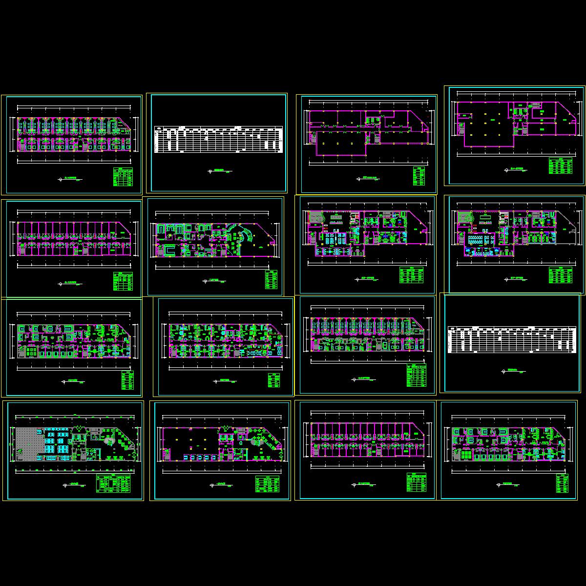 [CAD]阿里郎宾馆方案设计施工图纸(钢筋混凝土结构).dwg