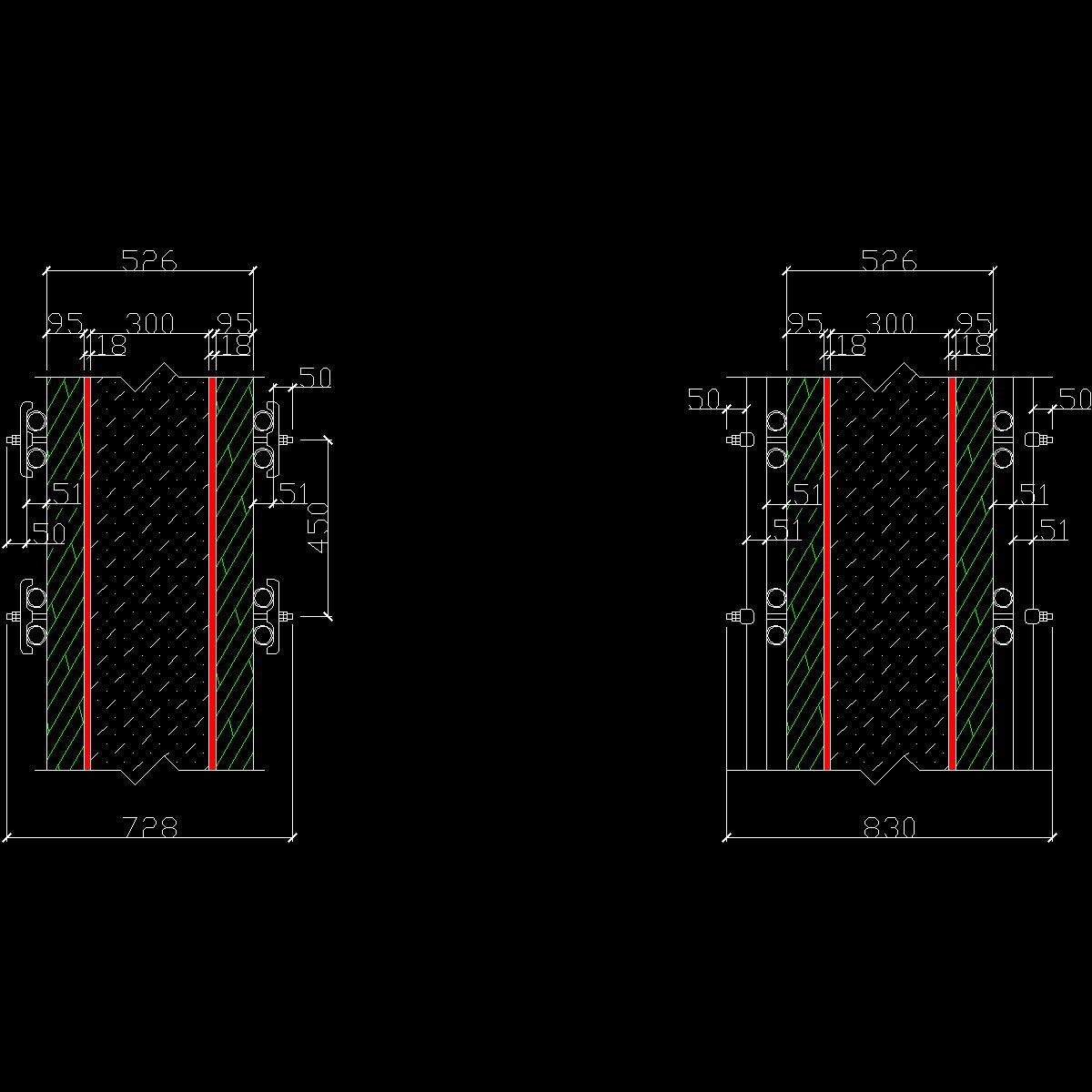 对接螺栓长度计算示意图.dwg