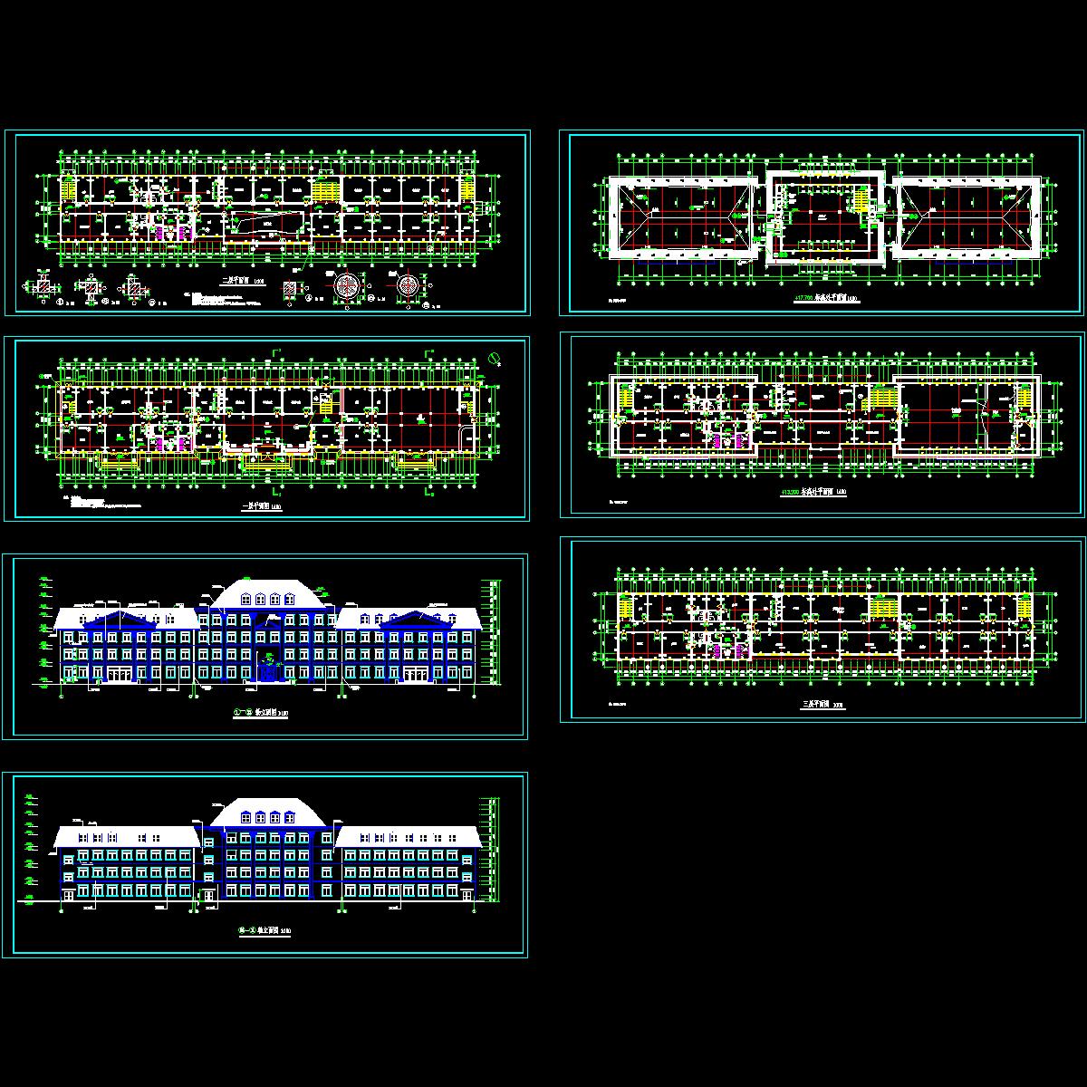 多层办公楼建施工图.dwg