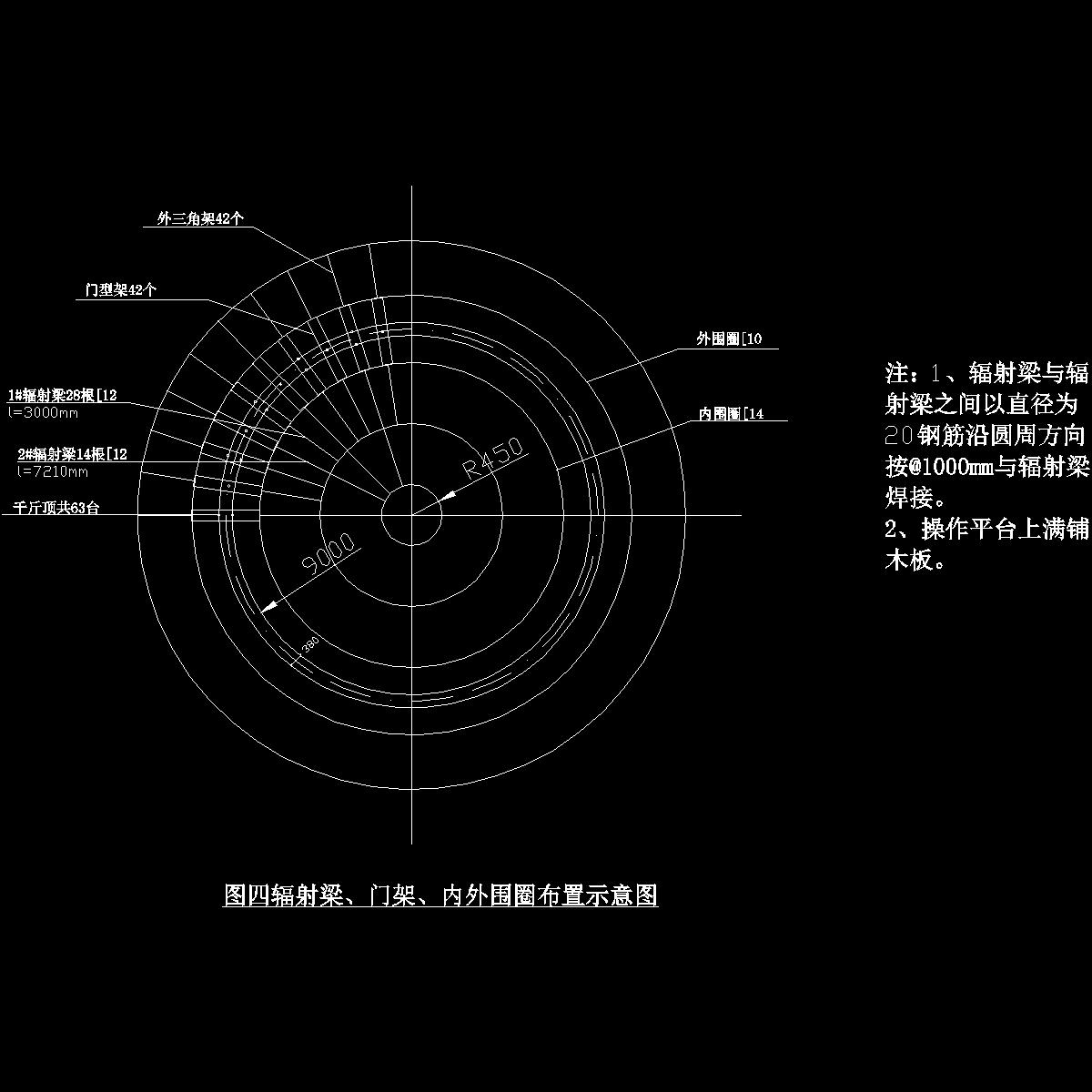 辐射梁、门架、内外围圈布置示意图.dwg