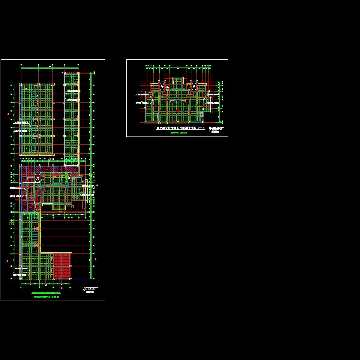 高支模立杆布置图及监测平面图.dwg
