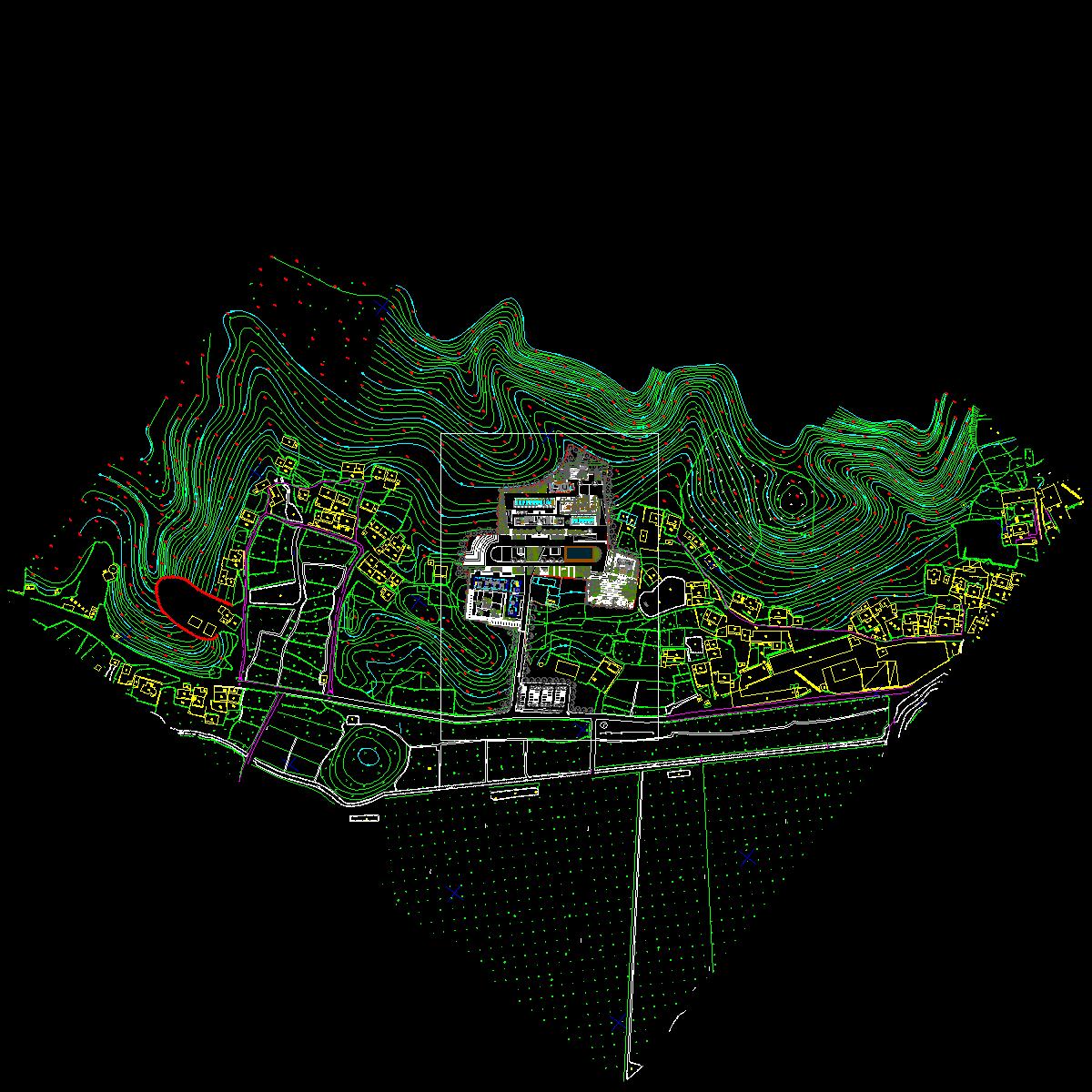 基地总平面图-5m architects.dwg
