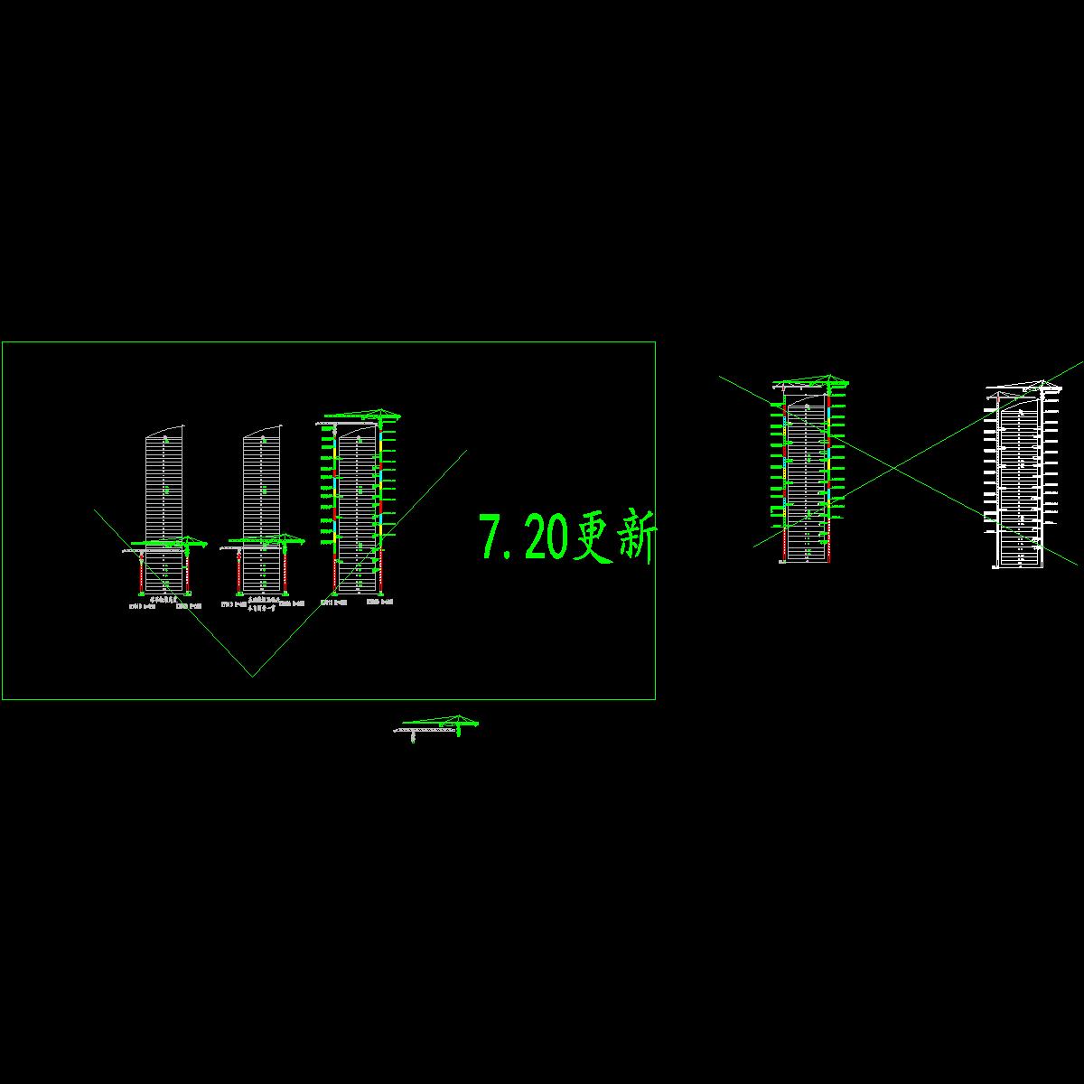 002  塔吊附着平面图和立面图7.20.dwg