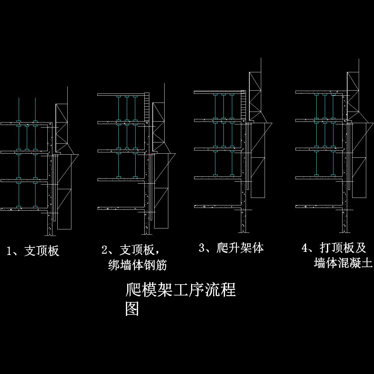爬模架工序流程.dwg