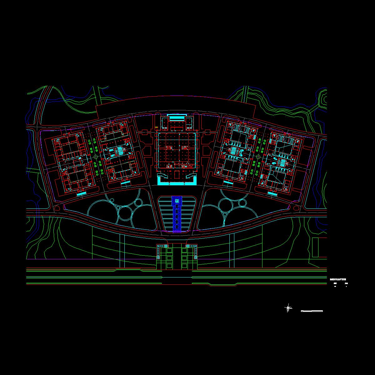 a-02建筑定位总平面图.dwg