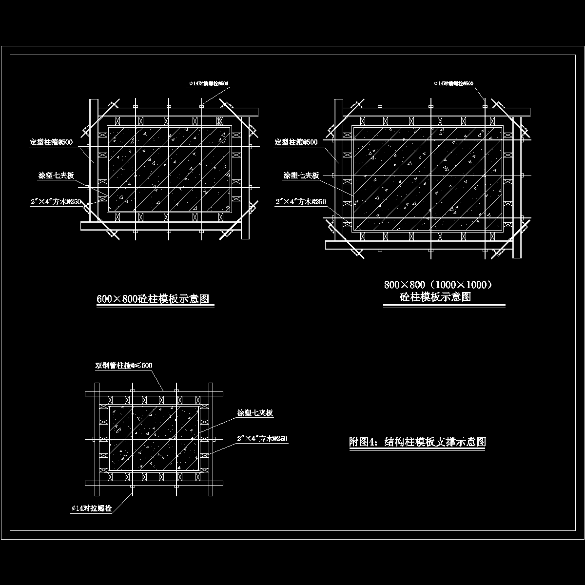 4 结构柱模板支撑示意图.dwg
