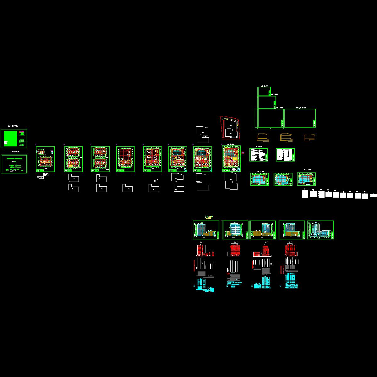 施工平面-立面(层高3.3)_t3.dwg